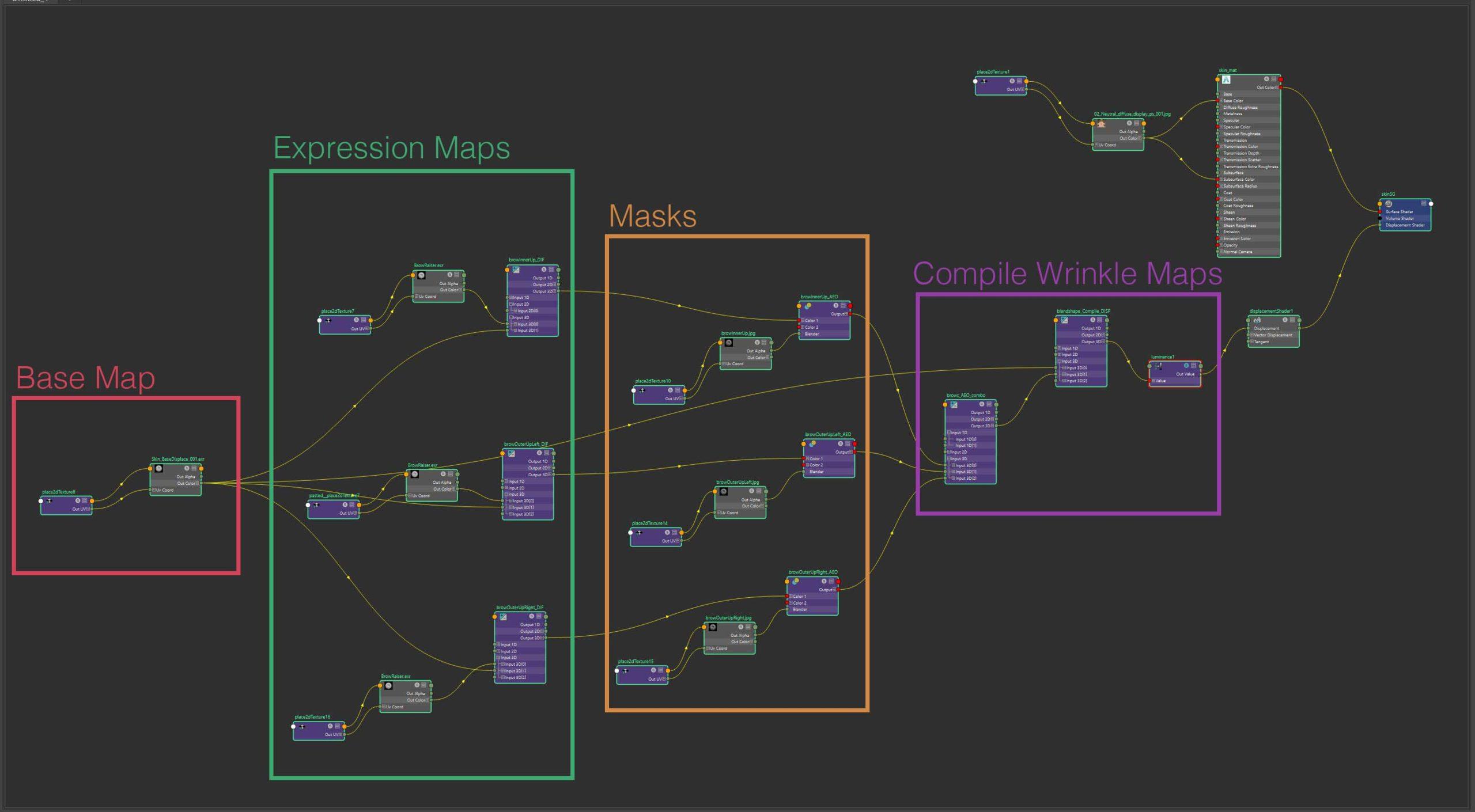 Wrinkle Map Network | FACS Rigging & Texture Blending | Adam Spring | Official Website