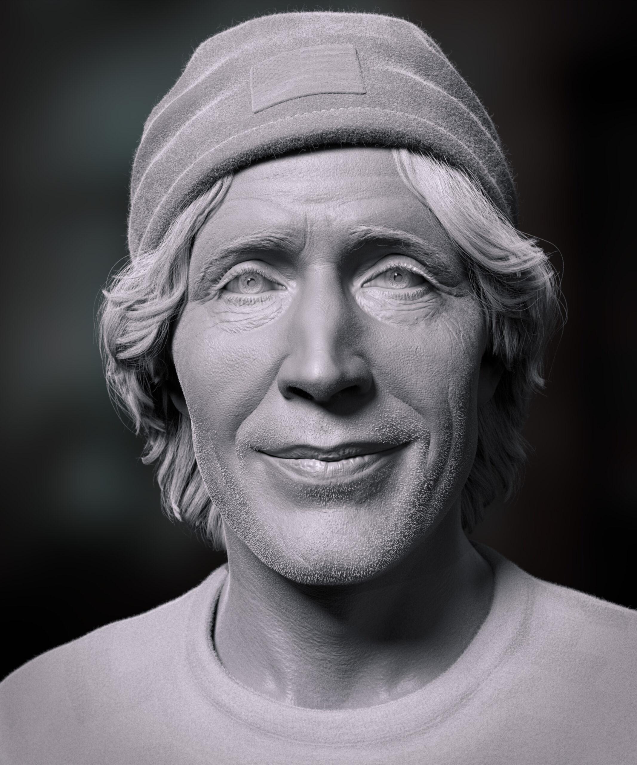 Rodney Mullen | 3D Portrait | Adam Spring Official Website